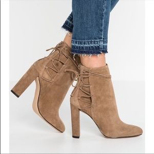 ALDO Tan  Suede And Synthetic Ankle Boots